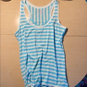 Lilly Pulitzer robin egg blue striped tank